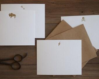 Buffalo Flat Notecard - 10 Letterpress Notecards