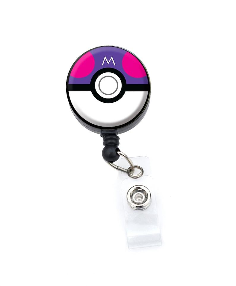 Master Ball Pokemon Ball Pokemon Go ID Badge Nurse Retractable Badge Reels ID Badge Holder
