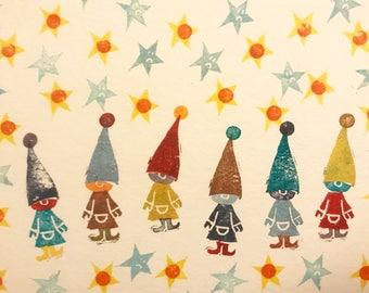 Holiday Card of Santa's Elves