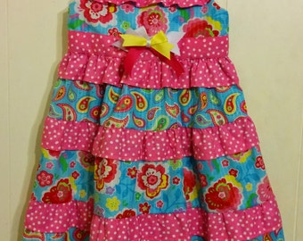 Size 4T Tiered Ruffled Sundress