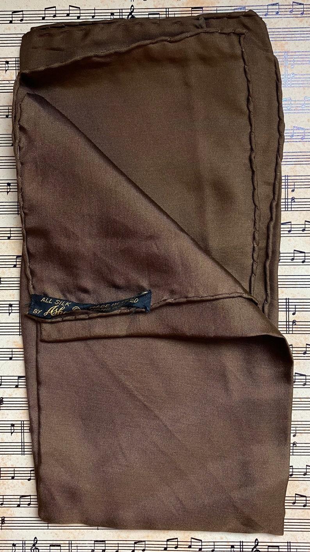 Vintage 60\u2019s Brown Pocket Square
