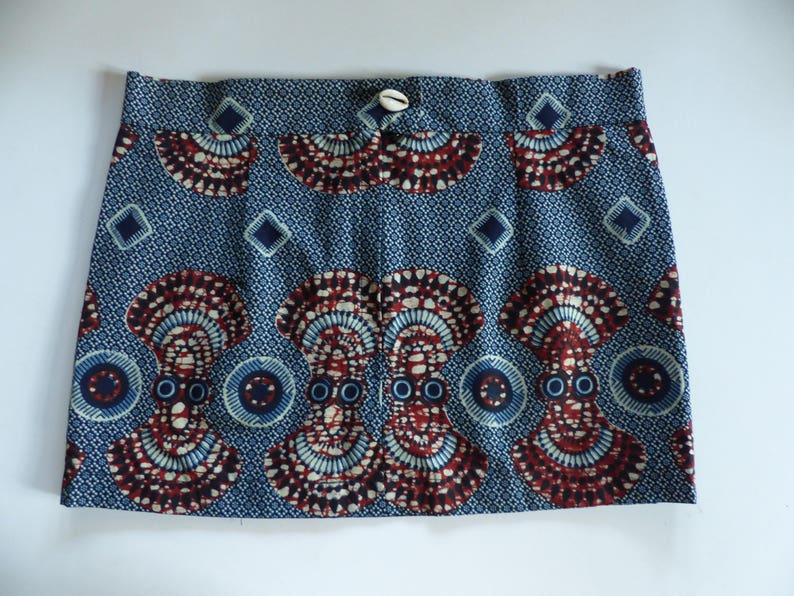Short skirt for summer genuine African wax cotton