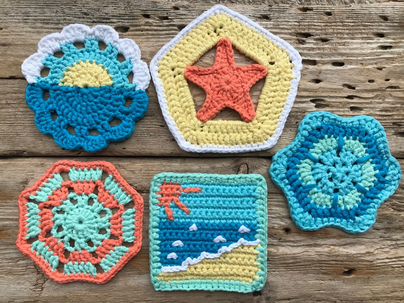 Coastal Crochet Coasters image 0