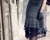 bohemian clothing - little black dress - prom retro clothing - black dress - cocktail dress - french chic - unique dress - black friday sale