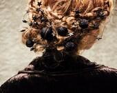 mothers day gift - statement - yarn ball hair pin set - hair pin set - bohemian headpiece - romantic hair accessory