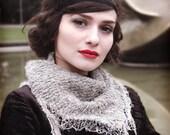 womans lace shawl - mother gift - oatmeal shawl - triangle shawl - knitted shawl - hand made shawl - romantic shawl