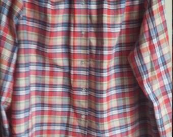 Vintage plaid 70s shirt