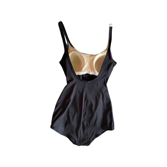 vintage 1940s-style swimsuit // one piece 1970s s… - image 3