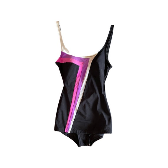 vintage 1940s-style swimsuit // one piece 1970s s… - image 1