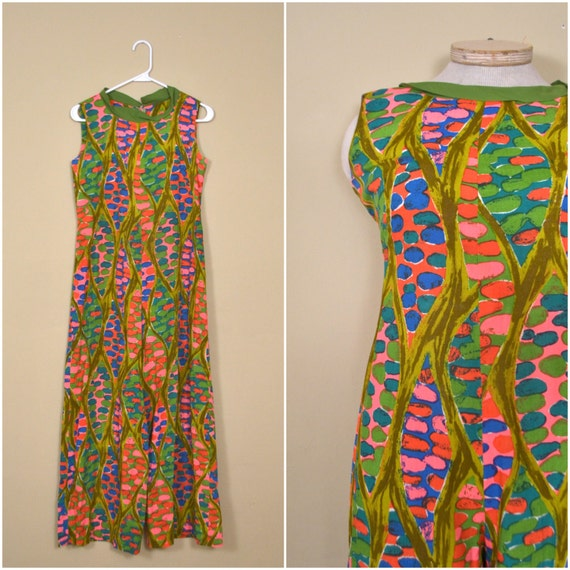 1960s psychedelic colorful playsuit // sixties abs