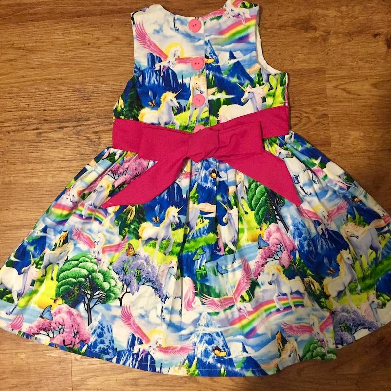 Unicorn Dress Girl/'s Dress Girls Unicorn Dress Rainbow Dress Girls Princess Party Dress Baby Girl 1st Birthday Unicorn Outfit