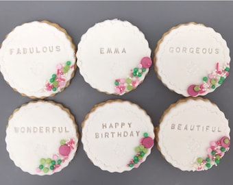 Birthday Iced Biscuits / Iced Cookies