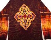 Small Sacred Geometry Tie Dye Longsleeve Tshirt