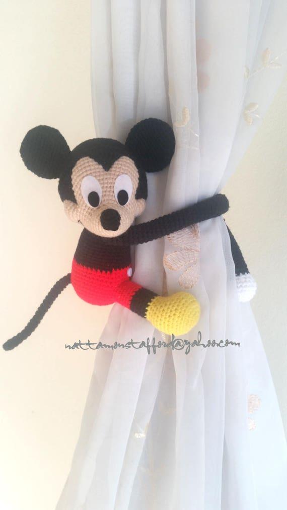 1 Mickey Mouse häkeln Vorhang zurück handgemachte Mickey Maus
