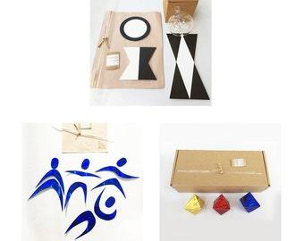 Montessori Visual Mobiles DIY set of three