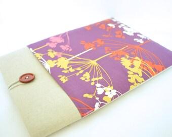 "Purple Laptop Sleeve 14"" Laptop Case 15.6"", 13.3"" MacBook Laptop, Floral Computer Case Gift for Her"