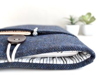 "Laptop Case Laptop Sleeve 12"" 13.3"" 15.6"" inch Laptop Case Laptop Cover Custom Size - Blue/Black"