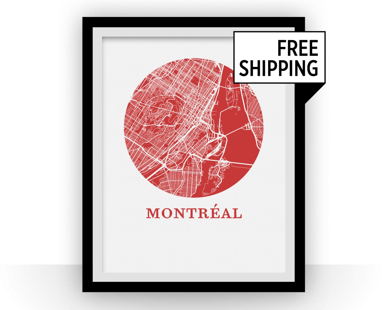 Montreal Map Print City Map Poster | Etsy