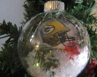 Decoration Ornament Xmas Party Decor Football Cap Hat Green Bay Packers K1365/_C8