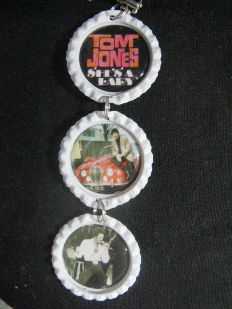Bottle Cap Image Inside RView Mirror ~ Tom Jones ~ **Gift Idea