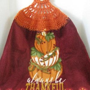 "Crochet Kitchen Towel /""Fall//Thanksgiving/"" ~ ** Gift Idea"