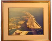 Ocean City Maryland Vintage Photograph Ocean City Maryland Inlet Photograph Original Paul J. Smith signed aerial photograph