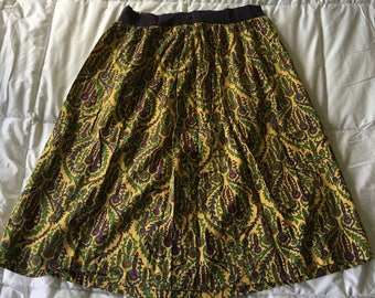 LL Bean Signature Silk skirt