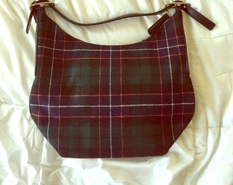Vintage Coach plaid purse