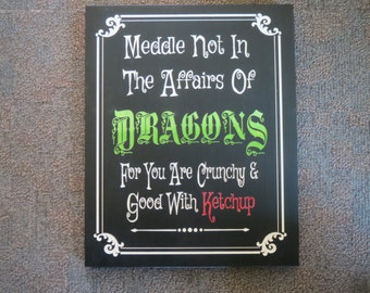 Decorative sign, Speciality sign,Halloween sign, Dragon sign, Handmade, Original