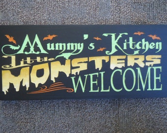 Decorative sign, Speciality sign,Halloween sign, Kitchen sign, Handmade, Original