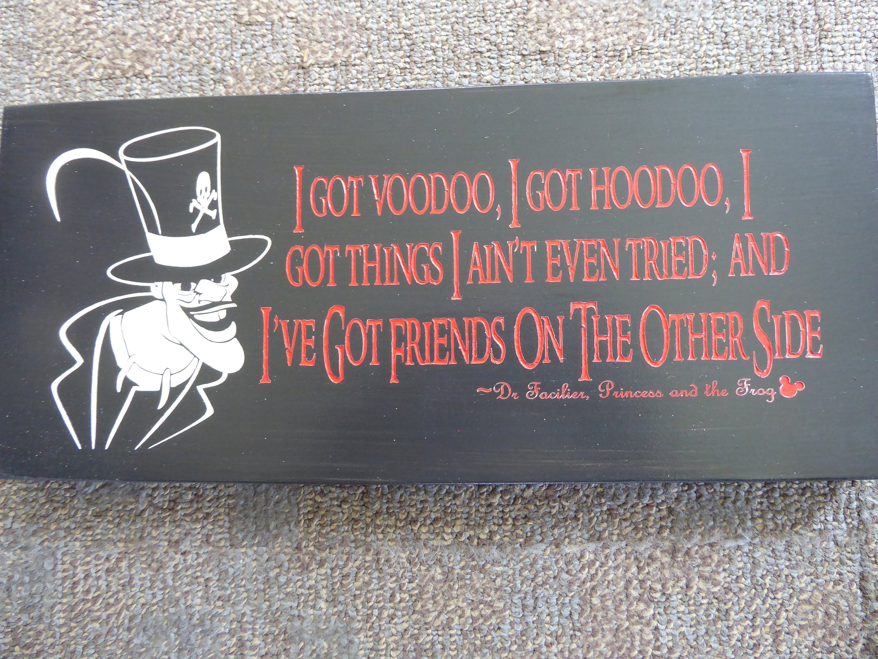 Disney Disneys Villains Quote Sign Princess And The Etsy
