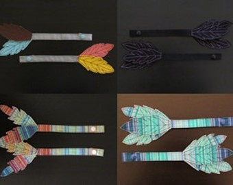 CUSTOM Tula Reach Straps with Feather Embellishments-- Pick your fabric!