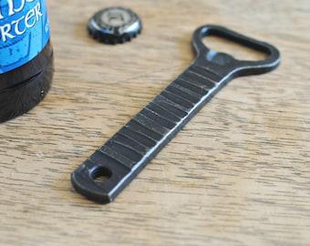 Hand Forged Bottle Opener, Hammer Texture Long Bottle Opener, Gifts for Beer Lover, Handmade Metal Bottle Opener,  Stocking Stuffer