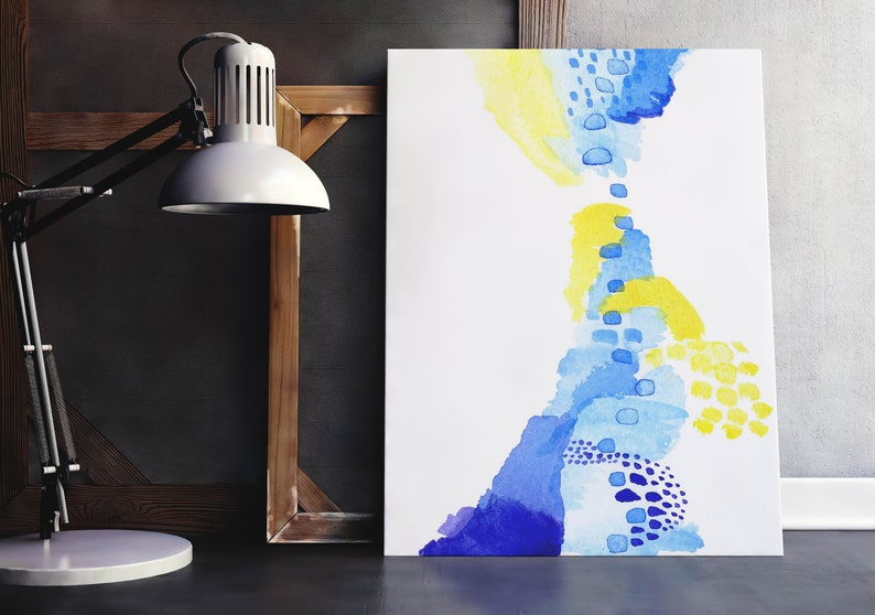 Colorful Watercolor Art. Blue Abstract Art Beautiful Art image 0