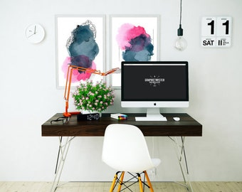 Modern Art Print Set. Fine Art Print. Gift for Woman. Modern Home Décor. Watercolor Art.  Home Décor Art. Abstract Painting. Unique Fine Art