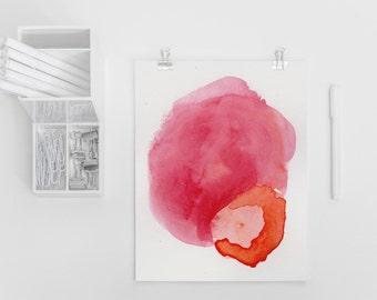 Large Abstract Art Print. Pink Art Print. Colorful Wall Art Print. Abstract Art Print. Watercolor Art Print
