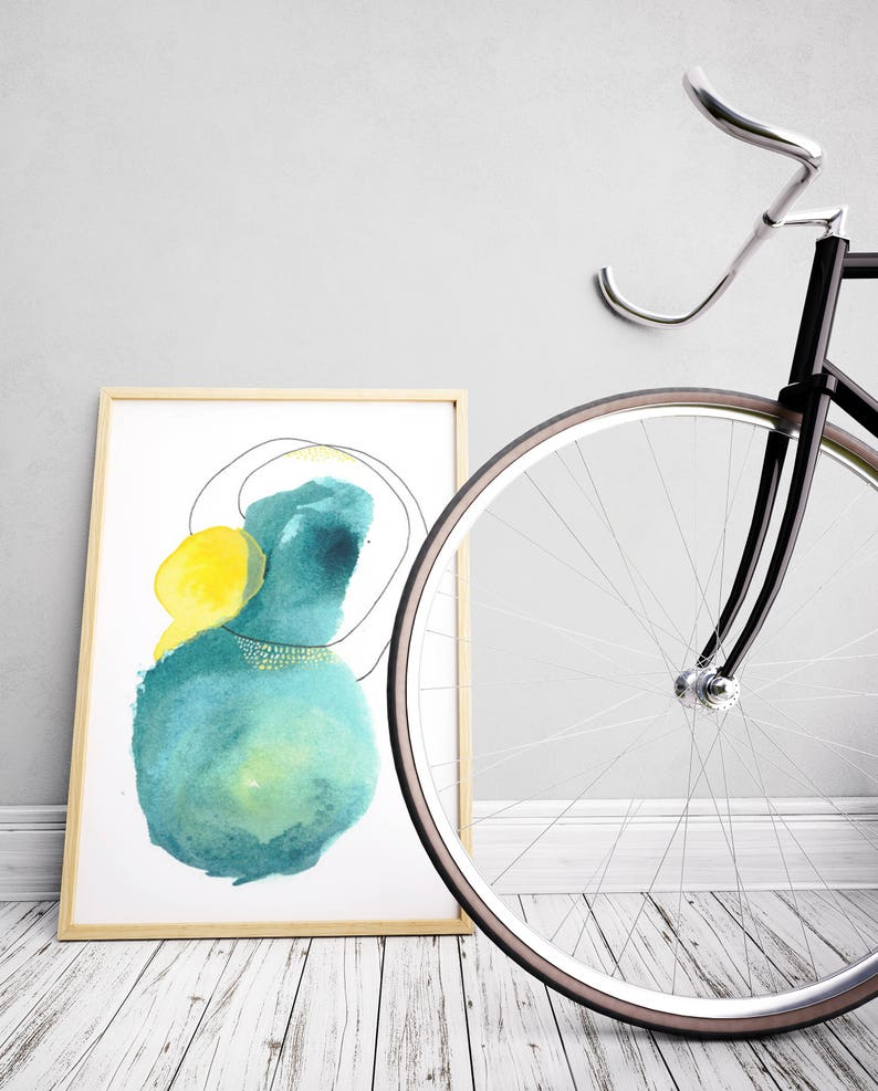 Green Watercolor Art Print. Watercolor Art Print. Green image 0