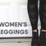 Womens Leggings Girls Leggings Yoga Pants Maternity Leggings Plus Size Leggings Custom Hand Painted in the Design Your Choice