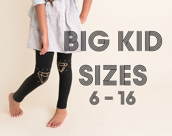 Girls Leggings Big Kid Sizes Custom Hand Painted in the Design of Your Choice