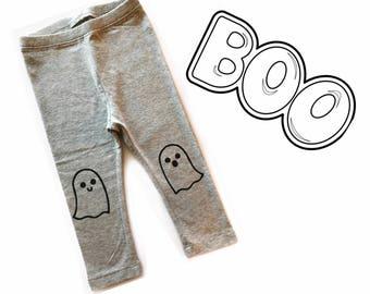 Halloween Ghost Hand Painted Childrens Leggings Womens Leggings