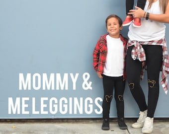 Mom & Infant Mommy and Me Leggings Adult and Infant Set of Leggings Custom Hand Painted in Any Design From My Shop