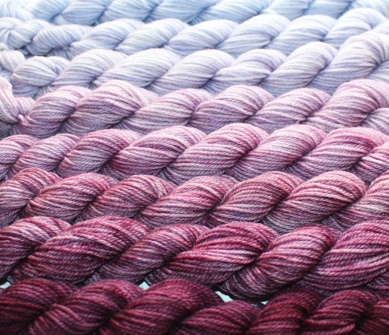 Gradient Yarn Set-\u0435xtra fine merino  wool ;Color:Heather