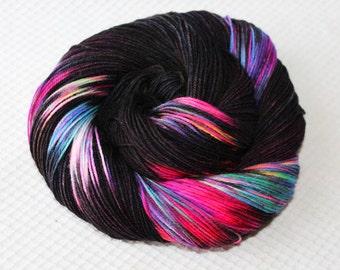 Superwash Merino  sock yarn;4-ply ;  Color:City Lights