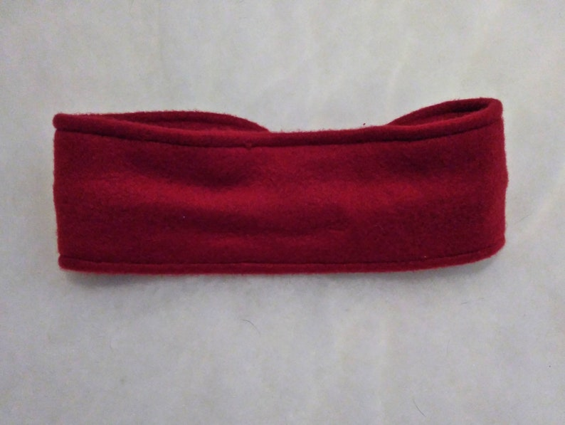Cute Cold Weather Headband Winter Accessories Winter Head Wrap Winter Headband Burgundy Fleece Headband with Bow Fleece Ear Warmer