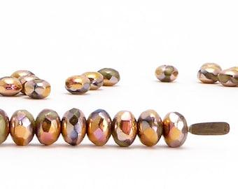 3x5mm Capri Gold Rondelle Czech Glass Beads (40 pcs)