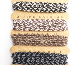 Earthy Braided Hemp Rope Card Set, 1.8mm Hemp Cord Set, Santa Fe Hemp Rope, Hemp Cord, Hemptique, Brown Hemp Cord, Black Hemp Cord  HMC0041
