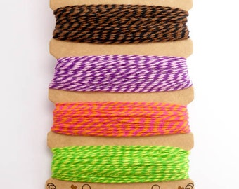 Hemptique Fiesta Bakers Twine Card, Hemptique Cord, Hemptique Bakers Twine, Green Bakers Twine, Neon Twine, Purple Twine BTC0010