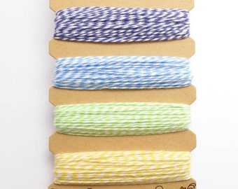 Hemptique Hummingbird Bakers Twine Card, Hemptique Cord, Hemptique Bakers Twine, Blue Bakers Twine, Green Twine, Yellow Twine BTC0008