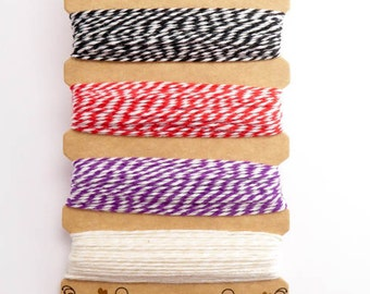 Hemptique Sunset Cruise Bakers Twine Card, Hemptique Cord, Hemptique Bakers Twine, Black Bakers Twine, Red Twine, Purple Twine BTC0009
