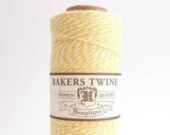 Hemptique Yellow White Bakers Twine, Hemptique Cord, Hemptique Bakers Twine, Yellow Bakers Twine, White Bakers Twine BTS0015